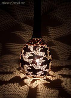 gourd pendant lamp II – M.C.Escher by Calabarte. Hey une lampe Escher... pas bête du tout.