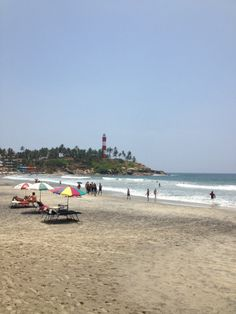 Kovalam beach in Trivandrum, Kerala, India