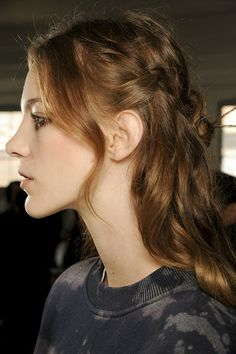 Backstage Hair: Autumn Winter 2013-14 Fashion Week Hairstyles (Vogue.com UK) my color :)