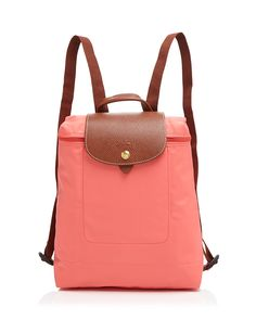 Low Price Portable Longchamp Le Pliage Backpack Curry