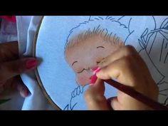 Pintura en tela cara niño del pesebre #1 con cony - YouTube
