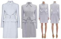 """With """"foldable peplum"""" by Alexander McQueen"""