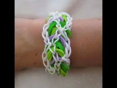 Rainbow Loom- How to make a Bracken Bracelet (Variation of the Triple Link Chain by Justin's Toys) - YouTube