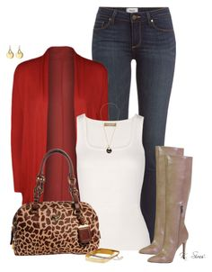 """""""Boot Season is coming!"""" by ksims-1 ❤ liked on Polyvore featuring Paige Denim, WearAll, Michael Kors, Jessica Simpson and Prada"""
