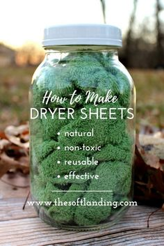 4 ingredients + 5 steps for homemade nontoxic dryer sheets! is part of Diy laundry - Conventional dryer sheets have a nasty list of negative health effects, but these easy and affordable nontoxic dryer sheets are the perfect alternative! Homemade Cleaning Products, Cleaning Recipes, House Cleaning Tips, Natural Cleaning Products, Cleaning Hacks, Diy Hacks, Household Products, Cleaning A Dryer, Natural Products