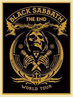 "Black Sabbath ""The End"" / Shepard Fairey via obeygiant.com"