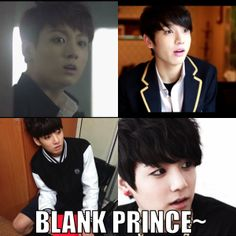 Blank Prince JungKook #BTS macro #funny || Does anyone else realise this as well? I mean like seriously, he shows this face expression quite a lot…