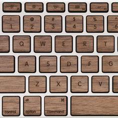 Lazerwood Keys for MacBook Pro - Walnut
