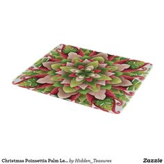 Christmas Poinsettia Palm Leaves Mandala Cutting Board Christmas Mandala, Christmas Poinsettia, Glass Cutting Board, Making Out, Keep It Cleaner, Holiday Cards, Palm, Floral