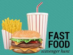 Have a blast with our Fast Food Scavenger Hunt! Fast Food Games, Pumpkin Games, Youth Group Games, Thanksgiving Games, Kids Ministry, Mini Pumpkins, Help Teaching, Having A Blast, Free Games