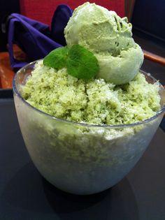 Green tea bingsu #bingsu