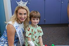 Photo of Miss California Bree Morse with one patient