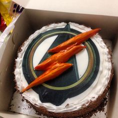 My cake for my 28th birthday. Flash and arrow crossover