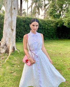 """Heart Evangelista posted on Instagram: """"Love and light, always. ❣️ @katespadeny @sslilfeph #SSILIFEPH #MahalKongSorsogon"""" • See all of @iamhearte's photos and videos on their profile. Heart Evangelista Style, Love And Light, Cute Outfits, High Neck Dress, Photo And Video, Formal Dresses, Hair, Instagram, Outfit Ideas"""