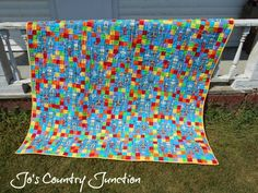 A novelty quilt from Kelli at Jo's Country Junction. Find it and more at http://www.joscountryjunction.com/friday-finish-kellis-novelty-quilt/