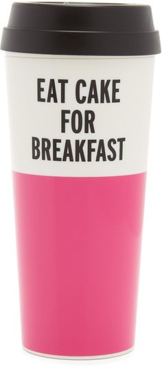 Kate Spade Eat Cake for Breakfast Thermal Mug