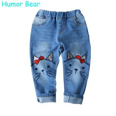 Humor Bear 2017 Children Jeans Girls Pants Cartoon Cat Embroidery Kids Clothes Pants Causal Jeans Girls leggings Kids Trousers - Kid Shop Global - Kids & Baby Shop Online - baby & kids clothing, toys for baby & kid Girls Leggings, Girls Jeans, Fashion Kids, Baby Girl Pants, Baby Girls, Baby Shop Online, Baby Kids Clothes, Kids Clothing, Clothing Stores
