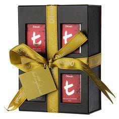 NEW Dilmah Mini Tea Caddy Gift Set 4pce