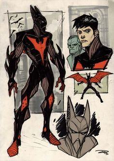 Note: Uber-hot P:R Regular Denis Medri returns, this time veering away from his redesign series to do a one-off of Terry McGinnis, aka Batman Beyond. This rendition of the future Batman has some ti… Comic Book Characters, Comic Character, Comic Books Art, Comic Art, Character Design, Im Batman, Batman Art, Batman Comics, Spiderman