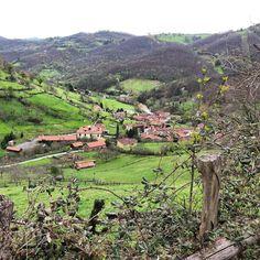 El pueblo de Cenera #Mieres #Asturias