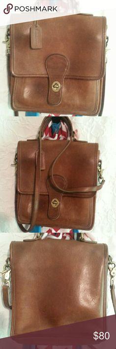 Coach Vintage all leather handbag 9L x12h x 2.25w Coach Bags Shoulder Bags