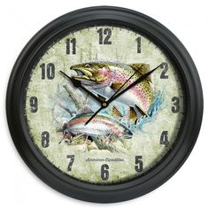Rainbow Trout Wall Clock 11.5"