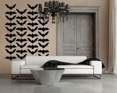 Wall Decal Bats Halloween Spooky Scary Haunted by WallStarGraphics, $125.00