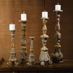 Renaissance Candle Sticks - set of 5