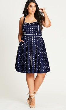Sweet Darling Plus Size Fit & Flare Dress