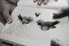 DIY Tutorial Ring Book . Pic Heavy :  wedding diy love birds ring book tutorial 277720 469434799744569 1373886731 O
