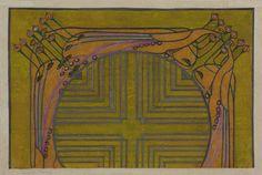 Hunterian Art Gallery, Textile design: vanity handkerchief c.1920 Margaret MacDonalds