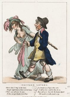 """Drunken Lovers"" by Thomas Rowlandson (1798)"
