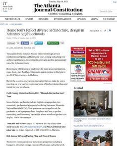 Atlanta Symphony Orchestra Decorators Show House & Gardens | Atlanta Journal Constitution, April 2013