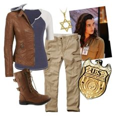 Ziva David- NCIS by margorita1999 on Polyvore featuring maurices, Coalition LA, Hollister Co., Mondevio and Co|te