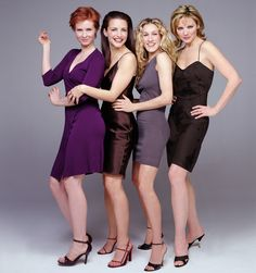 "The cast of ""Sex And The City,"" Season 2 Clockwise from top left: Cynthia Nixon, Kristin Davis, Sarah Jessica Parker and Kim Cattrall. 1999 Paramount Pictures Get premium, high resolution news photos at Getty Images Sarah Jessica Parker, Kristin Davis, Kim Cattrall, Poses Modelo, Hobbs New Mexico, Then And Now Photos, Samantha Jones, Shows, Movies"