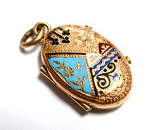 Aesthetic Movement Adds | Victorian Aesthetic Movement Enamelled Locket - Taille D' Epargne ...