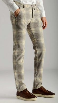 Madras patterned cotton trousers