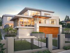 In our architecture section we showcase hand-picked contemporary house designs along with beautiful architectural concept designs from all over the globe. These galleries contain hot design trends… Beautiful Modern Homes, House Beautiful, Beautiful Beautiful, Beautiful Pictures, Fancy Houses, Facade House, House Facades, Modern Exterior, Home Exterior Design