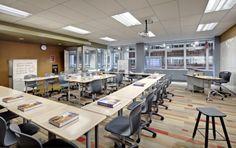 Como os novos escritórios também influenciam as salas de aula.