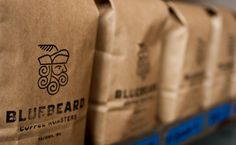 Bluebeard Coffee Roasters. Logo designed by Partly Sunny