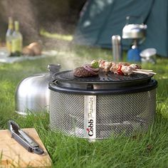 Cobb® Barbecue Cooking System - From Lakeland. I really need a cobb Cobb Bbq, Cake Batter Fudge, Portable Grill, Grill Grates, Smoke Grill, Grill Accessories, Barbecue Grill, Small Gardens, Grilling Recipes