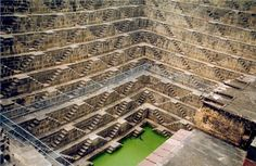The Chand Baori stepwell in Jaipur, India. 3,500 steps, 13 stories deep, built in the 9th century - like an Escher drawing come to life.