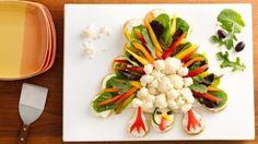 Crescent Turkey Shaped Veggie Platter   Holidays
