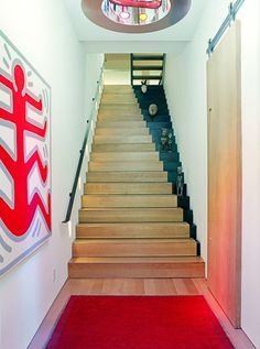 The Painted Staircase: Is it a Stairway to Heaven? Painted Staircases, Painted Stairs, Wooden Stairs, Staircase Painting, Concrete Staircase, Hardwood Stairs, Stairs To Heaven, Take The Stairs, Staircase Design