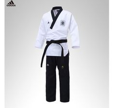 Adidas TaeKwonDo Poomsae Uniform Male TKD Uniforms Dan Dobok WTF Doboks Korean #adidas