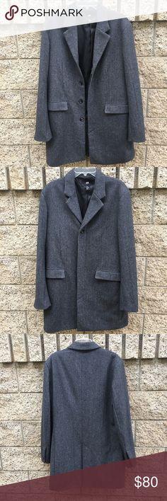 H&M long grey coat men Very good condition! H&M Jackets & Coats