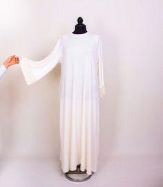 Ivory Loose dress casual maxi long sleeve loose big by Senamon
