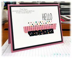 Bada-Bing! Paper-Crafting!: Mailable Monday - Washi Tape