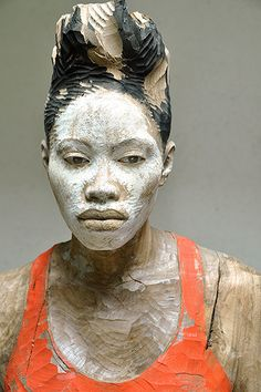 Concept Modeling For Easy Clay Sculptures: – Picture : – Description Bruno Walpoth -Read More – Easy Clay Sculptures, Sculpture Head, Wood Sculpture, Atelier D Art, Contemporary Sculpture, Italian Artist, African Art, African Masks, Portrait