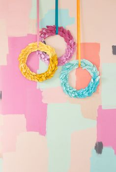 Ombre Paper Leaf Fall Wreaths